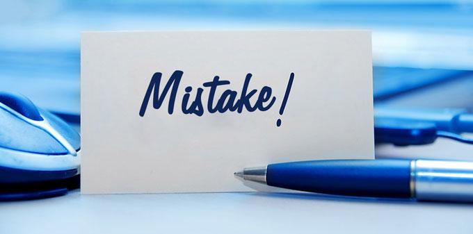 10 اشتباه بزرگ در طراحی وب سایت