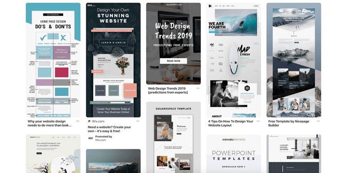 سبکهای مختلف طراحی سایت